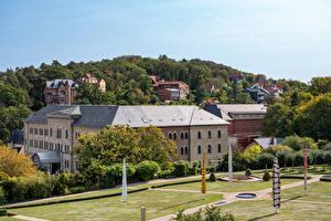 Bakgrunnsbilder Tyskland Hus Park Tak arkitektur Blankenburg (Harz) Byer