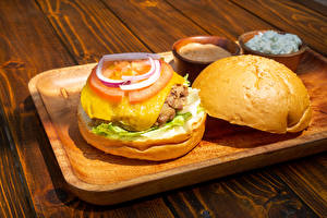 Pictures Hamburger Buns Vegetables Boards Cutting board