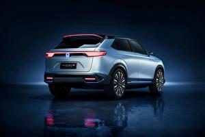 Hintergrundbilder Honda Silber Farbe Metallisch e:prototype, 2021