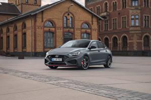 桌面壁纸,,現代,灰色,金屬漆,i30 Fastback N, (Worldwide), (PD), 2021,汽车