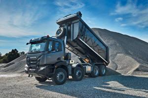 Desktop wallpapers IVECO Lorry Gray Metallic  Cars