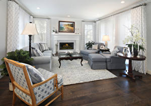 Fotos & Bilder Innenarchitektur Design Wohnzimmer Sofa Sessel Kamin Tiere