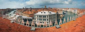 Bilder Italien Haus Panorama Venedig Dach Städte