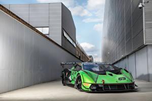 Tapety na pulpit Lamborghini Zielony Essenza SCV12, 2020 -- Samochody