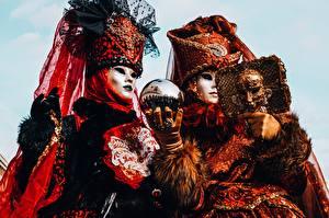 Fotos Masken Karneval und Maskerade 2 Kugeln Hand Handschuh