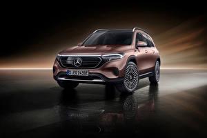 Hintergrundbilder Mercedes-Benz Crossover Metallisch Braune EQB 350 4MATIC Electric Art Line, Worldwide, (X243), 2021