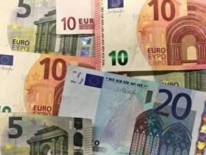 Fondos de escritorio Dinero Billete Euro 20, 10, 5