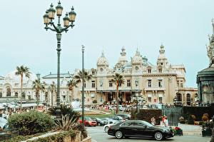 Wallpapers Monte Carlo Monaco Street lights Palm trees Casino Cities