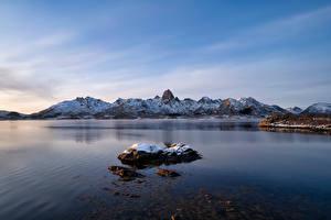 Hintergrundbilder Norwegen Berg Lofoten Sortland Natur