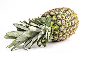 Picture Pineapples Closeup White background