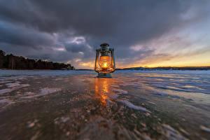 Hintergrundbilder Fluss Petroleumlampe Abend Eis Wolke Natur