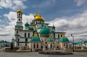 Pictures Russia Monastery Temples Church New Jerusalem monastery, Istra, Moscow region
