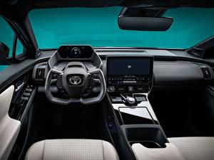 Bilder Toyota Salons Lenkrad Crossover bZ4X Concept, 2021