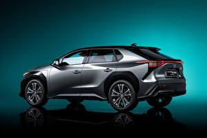 Hintergrundbilder Toyota Crossover Grau Metallisch bZ4X Concept, 2021