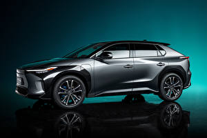 Wallpaper Toyota Crossover Grey Metallic Side bZ4X Concept, 2021 Cars