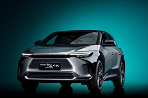Pictures Toyota Crossover Grey Metallic Front bZ4X Concept, 2021 Cars
