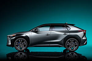 Photo Toyota Side Crossover Grey Metallic bZ4X Concept, 2021 automobile