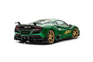 Desktop wallpapers Tuning Green Metallic White background Mansory F8XX, 2021 automobile