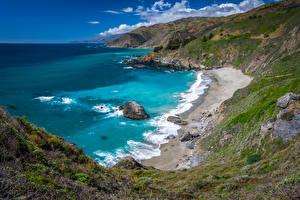 Bilder USA Küste Ozean Kalifornien Big Sur