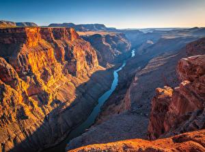 Hintergrundbilder USA Park Grand Canyon Park Fluss Felsen Canyon Toroweap, Arizona
