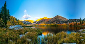 Pictures USA Landscape photography Mountains Lake California Nature