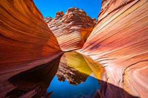 Photo USA Water Canyon Reflection Cliff Marble Canyon, Arizona Nature