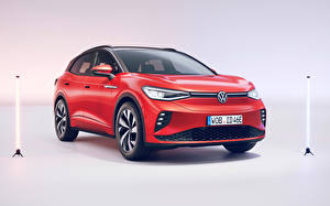 Image Volkswagen Red Metallic Crossover ID.4 GTX (Worldwide), 2021 Cars