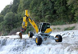 Fondos de escritorio Salto de agua Pala excavadora 2013-21 Menzi Muck M545