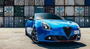 Images Alfa Romeo Front Blue Hatchback, Giulietta Sport, 2017 Cars