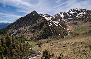 Hintergrundbilder Andorra Berg Steine Bäche Natur