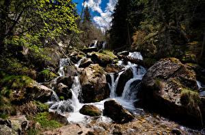 Fotos Andorra Berg Steine Bäche Natur