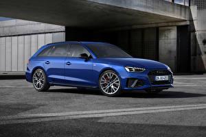 Photo Audi Blue Metallic A4 Avant S line competition plus, (Worldwide), (B9), 2021 auto