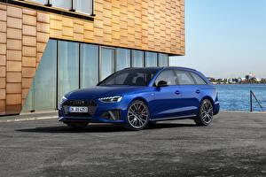Photo Audi Blue Metallic A4 Avant S line competition plus, (Worldwide), (B9), 2021 automobile