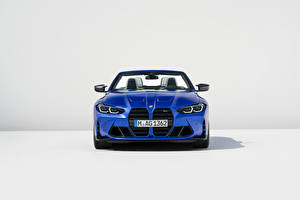 Pictures BMW Convertible Blue Metallic Front M4 Competition M xDrive Cabrio, (Worldwide), (G83), 2021 automobile