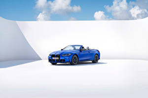 Pictures BMW Blue Metallic Convertible M4 Competition M xDrive Cabrio, (Worldwide), (G83), 2021 auto