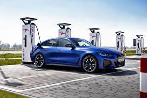 Bilder BMW Blau Metallisch i4 M50, (Worldwide), (G26), 2021 auto