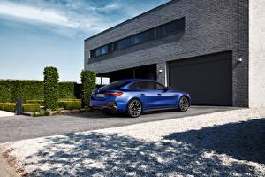 Fotos BMW Blau Metallisch Pforte i4 M50, (Worldwide), (G26), 2021 Autos