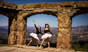 Fotos & Bilder Ballett Tanz Zwei Bogen architektur Mädchens