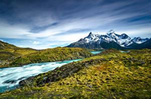 Bakgrundsbilder på skrivbordet Chile Berg Parker Torres del Paine National Park, Patagonia