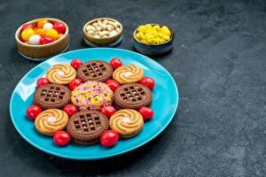 Fotos Kekse Bonbon Süßigkeiten Teller