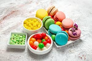 Bilder Kekse Dragee Süßigkeiten Macaron das Essen