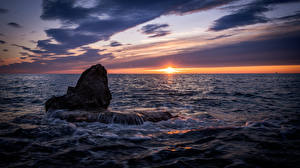 Fotos & Bilder Kroatien Meer Sonnenaufgänge und Sonnenuntergänge Istria Natur