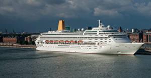 Pictures Denmark Copenhagen Building Marinas Cruise liner Bay Langelinie Pier Cities