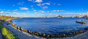 Fotos & Bilder Dänemark Kopenhagen Schiffsanleger Steine Panorama Bucht Natur