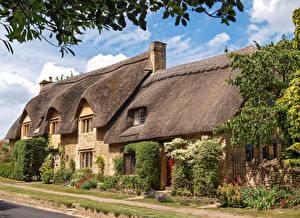 Fotos & Bilder England Haus Straße Dach Chipping Campden, Gloucestershire Städte