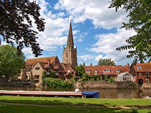 Fotos & Bilder England Haus Flusse Schiffsanleger Abingdon, Oxfordshire Städte