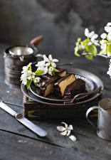 Wallpapers Flowering trees Chocolate Dessert Boards Branches Food
