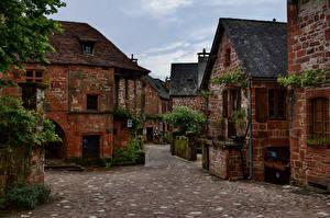 Hintergrundbilder Frankreich Haus Straße Collonges-la-Rouge