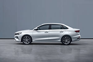 Pictures Geely White Metallic Side Chinese Emgrand, 2021 automobile