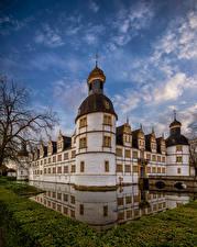 Hintergrundbilder Deutschland Burg Kanal Spiegelt Neuhaus Castle Paderborn